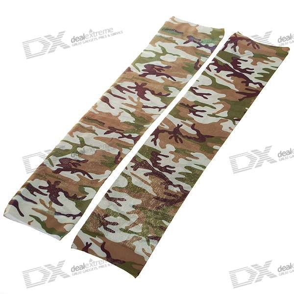 Colorful Tattoo Style Sleeves Arm Stockings - Camouflage