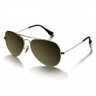 UV400 Protection Monel Metal Frame Green REVO Lens Sunglasses for Aviator - Silver