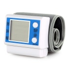"2.4"" LCD Electronic Wrist Blood Pressure Meter - White + Blue (2*AAA)"
