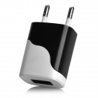 ART-036 AC 5V/1A USB Output Power Adapter Charger for Cellphone - Black + White (EU Plug)