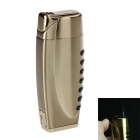 5414 Stylish Windproof Zinc Alloy Blue Flame Butane Gas Lighter - Golden
