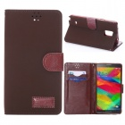 Buy PU Leather Stand / Card Slots Samsung Galaxy Note 4 - Brown