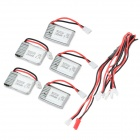 JST 1-zu-5-Ladekabel + 5 x 3,7 V 240mAh 20C Li-Polymer-Batterien Set - weiß + rot + Multi-Color