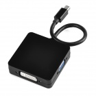 Mini Display Port to HDMI + VGA + DVI Cable - Black