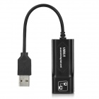 USB 2.0 10/100/1000Mbps Ethernet Adapter - Black (11cm)