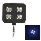Rechargeable 3.5mm Jack 3-mode 5600K LED Photo Flash Lamp for Cellphone / Tablet PC - Black