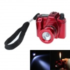 Camera Style Plastic Windproof Butane Gas Lighter - Red
