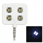 Rechargeable 3.5mm Jack 3-mode 5600K LED Photo Flash Lamp for Cellphone / Tablet PC - White