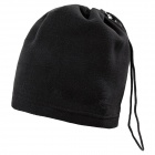 Multifunctional Fleece Hat / Face Mask / Neck Warmer Scarf - Black