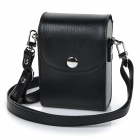 Fashionable PU Leather One-Shoulder Bag for Camera - Black