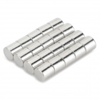 NdFeB N35 Round Magnets - Silver (6*6 mm / 20PCS)