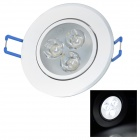 JR-LED 3W LED Ceiling Lamp White Light 6450K 230lm - Silver + White (AC 110~240V)