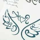 K158 Wings Style Body Tattoo Sticker - Black