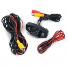 Wired HD CCD 170' Wide-Angle 4-LED Car Rearview Camera for Honda Accord VIII / City - Black