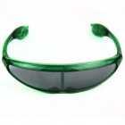 Plastic Frame PVC Lens Green Light LED Glasses- Translucent Green