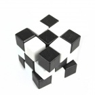 Educational Wooden Magic Cube Square Lu Ban Lock Toy - Black + White