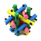 Wooden Bead Escape Puzzle Cage Take the Ball Unlock Toy - Multicolored