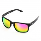 OREKA WG009 Fashion UV400 Protection PC Polarized Sunglasses - Black + Pink REVO