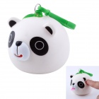 Funny Cute Stick-Tongue-out Sound Panda Hanging Stress Reliever Toy - White + Black