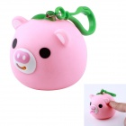 Funny Cute Stick-Tongue-out Sound Pig Hanging Stress Reliever Toy - Pink
