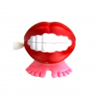 Creative Red Lips Shaped Clockwork Toy - Red + Pink