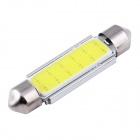 Festoon 42mm 3W COB LED автомобилей настольная лампа белого света 6000K 165lm - серебро + желтый (12 / 2 PCS )