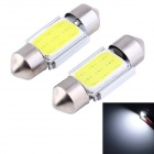 Festoon lâmpadas de leitura do carro da COB LED de 31mm 2.2W Luz branca 110lm (2PCS)