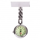 Casual Glow-in-the-Dark Alloy Quartz Analog Pocket Watch - Silvery White (1 x 377)