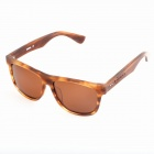 Oreka 14010 UV400 Protection Manual-Grinding Polarized Sunglasses - Wood + Tan