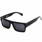 OREKA 14011 Manual-Grinding UV400 Protection Polarized Sunglasses - Black + Grey