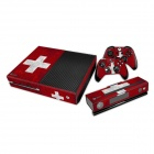 Swiss Flag Patterned Protective Stickers Set for XBOX ONEConsole + Controller - Black + Red + White