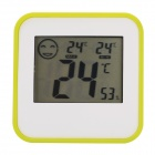 "DC206 Household Indoor 2.2"" LCD Thermometer w/ Time Display - White (1 x L1154)"