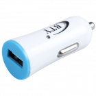 BTY M606 1.2A USB Car Cigarette Lighter Power Adapter - White + Blue (12~24V)