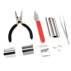 LIT Car Lock Remover Disassembly Tools Kit - Red + Silver