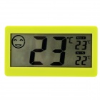 "DC206 Household Indoor 2.2"" LCD Thermometer w/ Time Display - Green (1 x LR1154)"