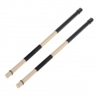 WGS02 New Style Bundle Drum Sticks - Black + Wood Color (Pair)