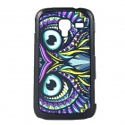 Owl Paint Pattern Hard PC Back Case for Samsung Galaxy Ace 2/i8160 - Black + Purple