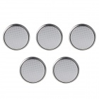 E0195 CR1625 3V Ultrathin Lithium Cell Button Batteries - Silver (5 PCS)