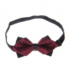 Simple Stylish Dacron Tie Necktie - Black + Dark Red