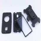TPU Back Case Cover Armor w/ Clip for Samsung Note 4 N910 - Black