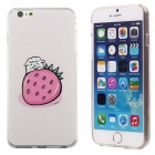 Cartoon Pattern PC + TPU Back Case for IPHONE 6 Plus - White + Pink
