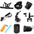 TOZ GP2-001K 9-in-1 Multi-purpose Mount Kit for GoPro Hero 4 / 3+ / 3 / 2 / 1 - Black + Orange