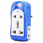 Universal Multi-Function Travelling UK Plug Power Adapter - White + Blue (100~250V)