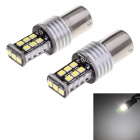 1156 6W LED Auto Backup valo / Steering Lamp White 6000K 180lm 15-SMD 2835 (12 ~ 24V / 2 PCS)