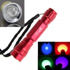 Ultrafire 4-in-1 7W 1-Mode Purple / Red / Green / Blue Light LED Portable Flashlight Torch - Red