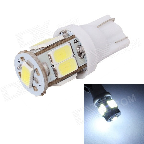 MZ T10-5630-9SMD 3W 360lm White LED Car License Plate / Clearance Lamp