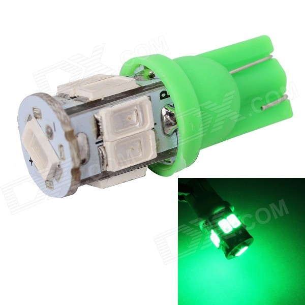 MZ T10 3W 360lm 9-SMD 5630 LED Green Light Car Lamp (12V)