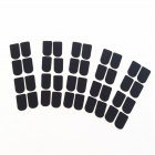 0.8mm Flute Head Silicone Dental Pads for Clarinet / Saxophone - Black (32 PCS)