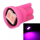 MZ T10 0.5W LED Car License Plate Light / Clearance Lamp Pink 450nm 80lm SMD 5630 - Pink (12V)