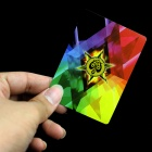 Magic Props Rainbow colorido Poker fino - Branco + Multicolorido